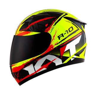 HELM FULL FACE KYT R10 Yellow Fluo