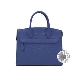 (NEW) LOUIS VUITTON M41751 PONT-NEUF MM CALFSKIN TOTE BAG GHW, DENIM 全新 手袋 藍色