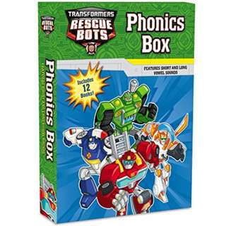 BNIB: Transformers Rescue Bots: Phonics Box (12books/ set)