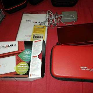 new 3ds xl metallic red