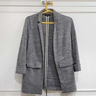 Topshop Grey Oversized Blazer