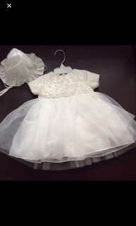 Baby baptismal dress white