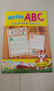 ABC tracing book