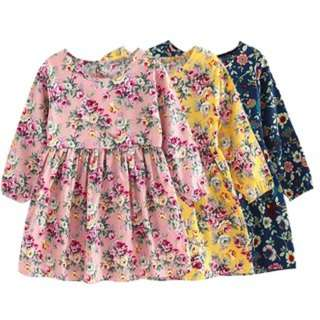 [PO112]Baby Girl Clothes Princess Dresses Long Sleeve Cotton