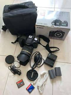 Canon 50D Tamron lens with Accessories