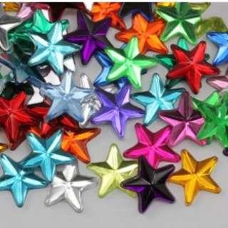 Shiny star rhinestones 50pcs