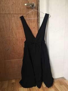 Black Deep V Neck Dress