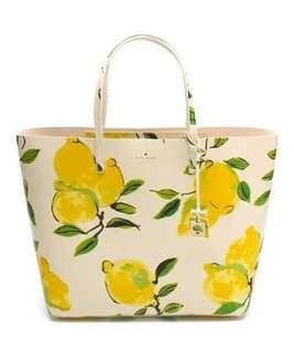 Kate spade lemon beach bag