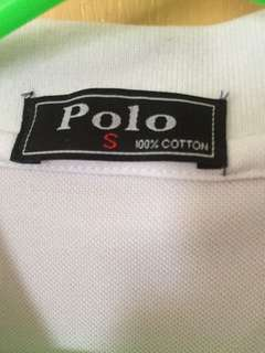 Polo White Plain