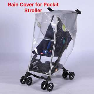 🌈(Ready Stock)💯🆕Brand New Pockit GB Pockit+ Stroller / Pram Breathable Rain Cover / Canopy / Weather Shield (Double Zipper)