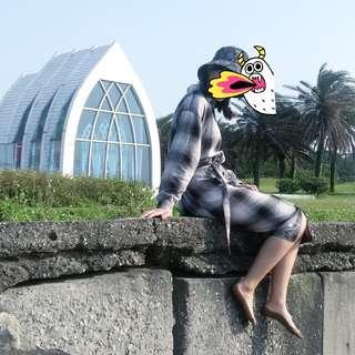 🚚 Uniqlo 黑白格子裙洋裝
