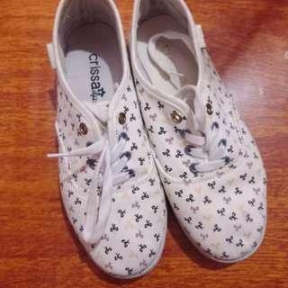 REPRICED:Crissa white canvas shoes