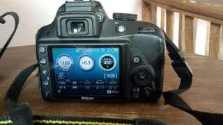 Kamera NIKON DSLR D3300 BLACK .LIKE NEW. EX.CW FULLSET
