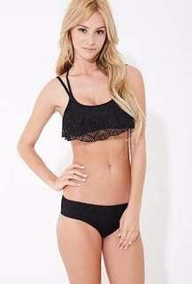 F21 Crochet Frill Bikini Top only