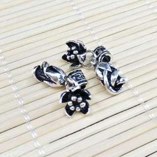 【林大漢直播拍賣】925純銀 玫瑰花花苞 銀飾配件