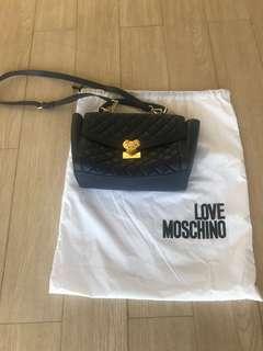 Authentic love Moschino sling bag color blue