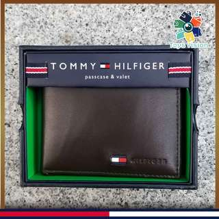 全新 Tommy Hilfiger Men's Leather Wallet 真皮銀包, 深啡色