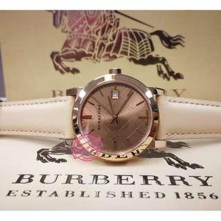Burberry Watch Women's Swiss Nude Leather Strap 34mm BU9109