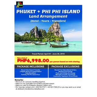 Phuket and Phi Phi Island Land Arrangement