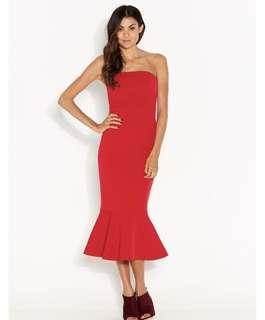 Formal red dress