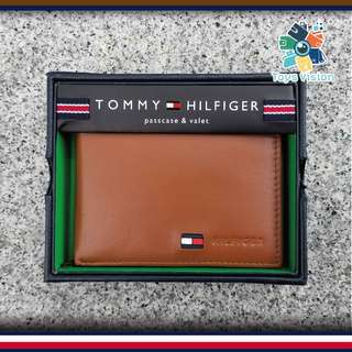 全新 Tommy Hilfiger Men's Leather Wallet 真皮銀包, 淺啡色