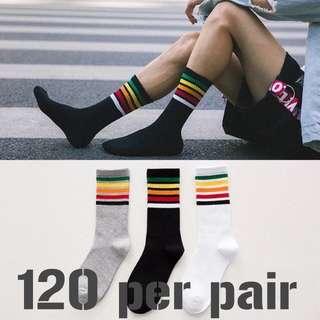 Rainbow socks - men