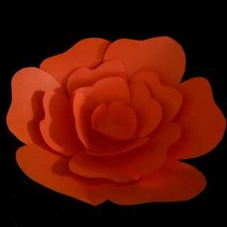 Orange Paper Flowers for SELL