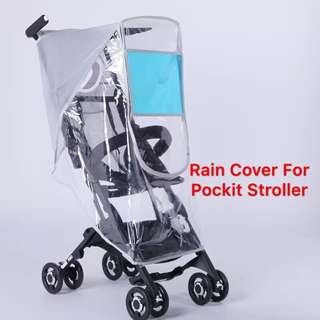 🌈(Ready Stock)💯🆕Brand New Pockit GB Pockit+ Stroller / Pram Breathable Rain Cover / Canopy / Weather Shield (U Shape)