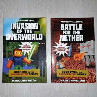 Unofficial Minecraft books (Invasion of Overworld and Battle of Nether)