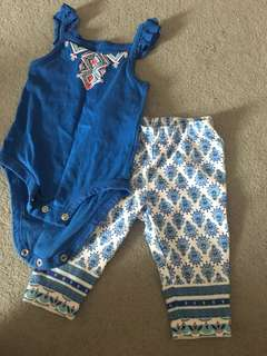 Carters Sleeveless Romper with Pants set