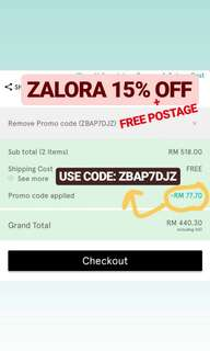 ZALIA LUBNA Etc 15% OFF PROMO BY ZALORA