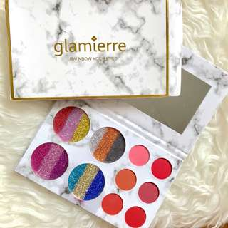 Glamierre rainbow in your eyes glitter eyeshadow palette