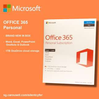 BNIB Microsoft Office 365 Personal Subscription