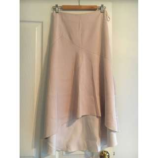 Witchery Pink Hi-Lo Midi Skirt - Size 8