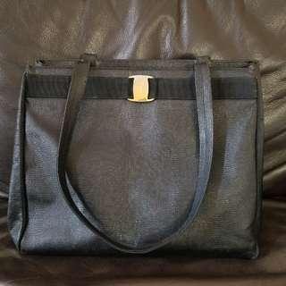 蜥蜴皮 Ferragamo large tote bag shopping bag 奶粉袋