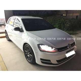 2014年 Golf tsi 1.2 白 搭配3500元交車方案 輕鬆貸款無負擔
