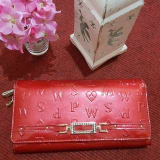 Pinky woman Sport wallet made from japan