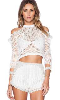 ALICE McCALL CROCHET KNIT TOP