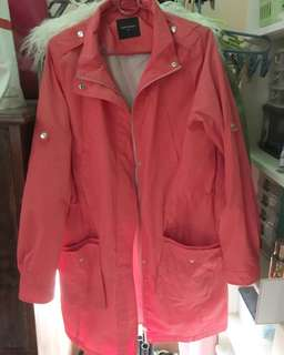 Pink Winter Trench Coat