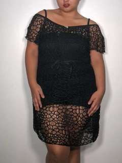 Brand new Black Cover up summer outerwear can fit plus size stretchy!