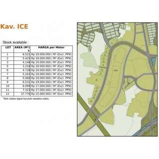 Kavling Komersial depan ICE Bsd City