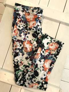 PRINTED FITTED PANTS
