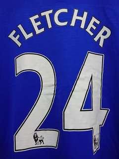 曼聯08/09作客球衣長袖 #24 Fletcher Manchester United Away Jersey Long Sleeve