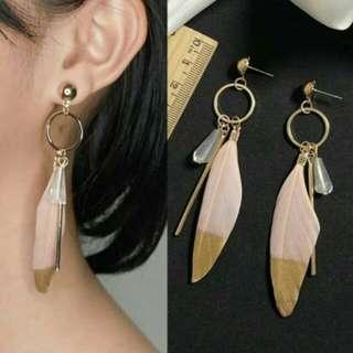 Anting Fashion Bohemian Feather