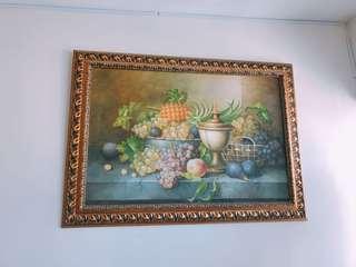 高貴家居擺設水果畫