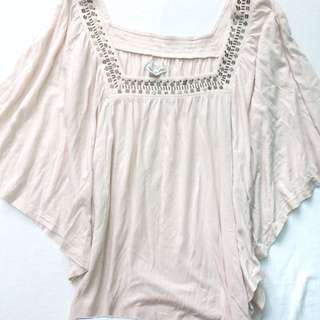 Batwing Blouse | Peach Color