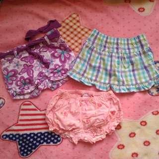Branded short/skirts bundle 6mos