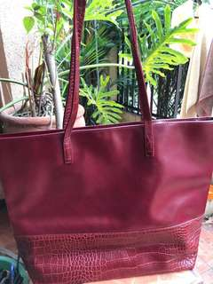 Authentic Estee Lauder Red Large Shopping Tote Bag