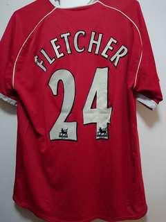 曼聯06/07主場球衣 #24 Fletcher Manchester United Home Jersey