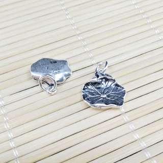 【林大漢直播拍賣】925純銀 荷葉 銀飾配件